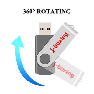 Image 3 - J boxing USB Flash Drives 1GB 2GB Thumb Drive 4GB 8GB Metal Swivel Pendrive 16GB 32GB USB 2.0 Memory Stick for PC 5PCS/Lot Grey