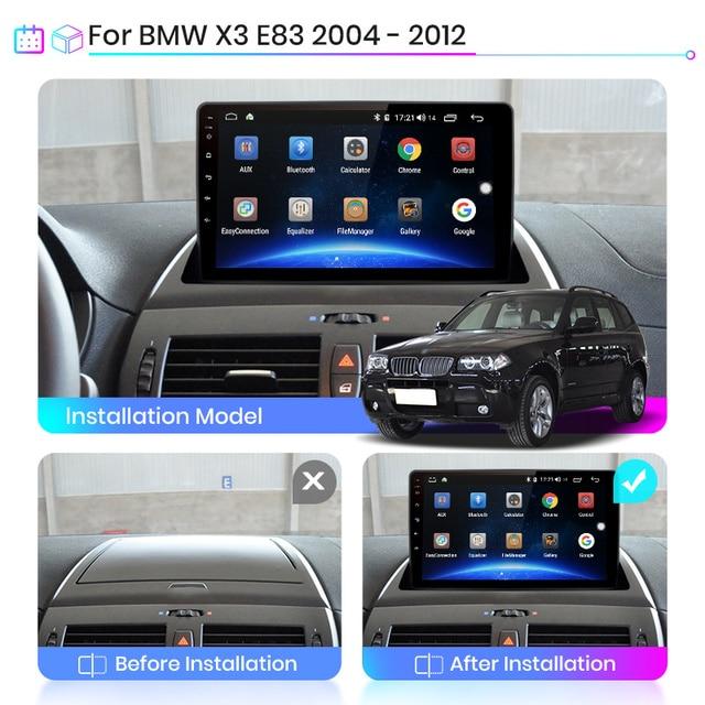 Junsun V1 2G + 32G Android 9.0 dla BMW X3 E83 2004 - 2012 radioodtwarzacz samochodowy multimedialny odtwarzacz wideo nawigacja GPS 2 din dvd