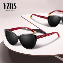 YZRS Brand Polarized Cateye Sunglasses Women Vintage Glasses Retro Cat eye Sun glasses Female Eyewear UV400