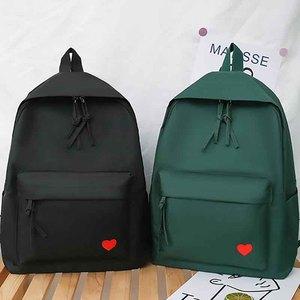 Image 2 - New Trend Female Backpack Fashion Solid Color Women Backpack Waterproof Teenage Girls School Bags Casual Shoulder Bag Female