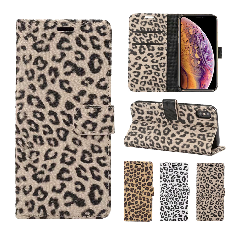 For Samsung Galaxy S20 Ultra S10E S10 Plus S9 S8 Case Leather Leopard Flip Book Cover Wallet case For Samsung Note 10 9 8 Case