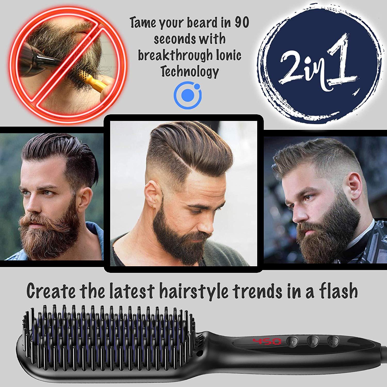 Profissional barba alisador de cabelo pente alisamento