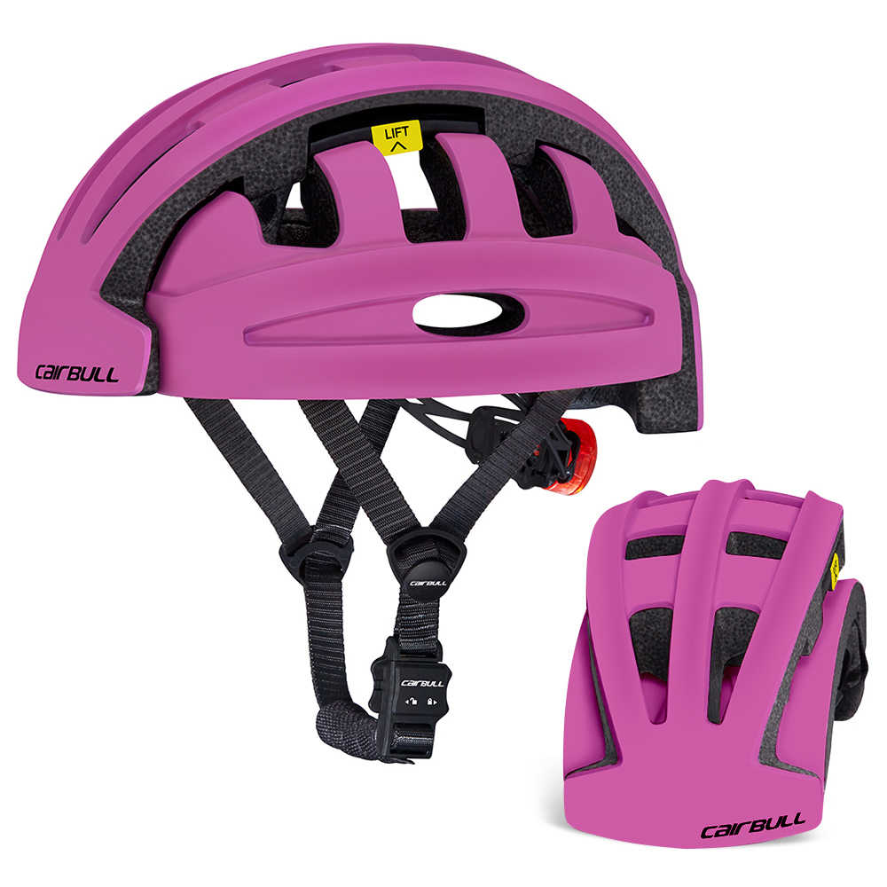 Casco plegable para ciclismo para hombres y mujeres, casco de bicicleta plegable para exteriores, casco protector de seguridad para deportes, scooter de patinaje, bicicleta MTB