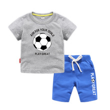 цена на 2020 NEW children Baby Boys clothes Sets cotton Tops+pants 2pcs set for baby boys Kids Clothing Summer Outfit Kids Tracksuit Boy