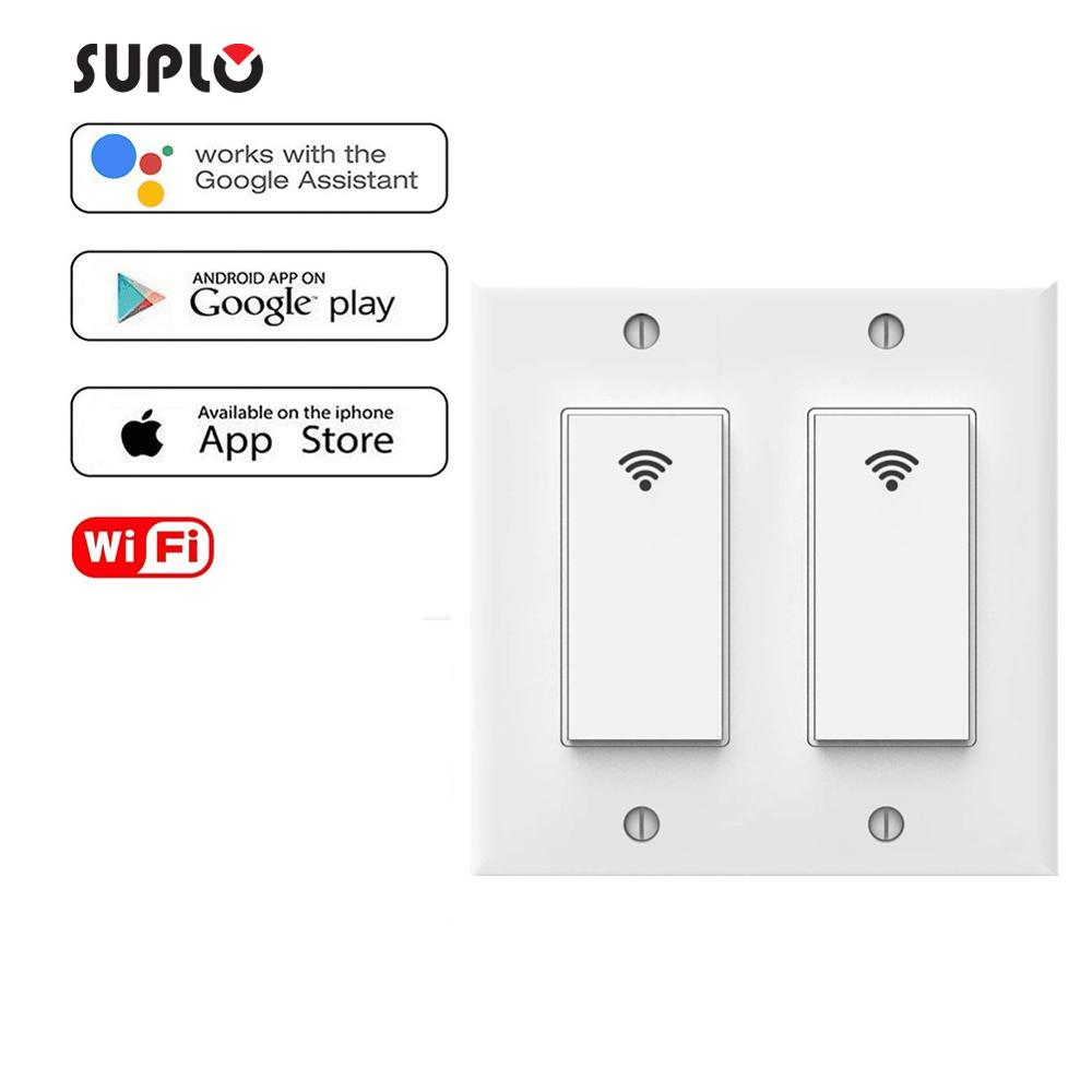 SUPLO Smart Light Switch Gosund Smart Wifi Light Switch With Remote Control And Timer, Works With Alexa, Google Home And IFTTT