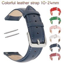 Cowhide Genuine Leather Watch Strap 12 14mm 16mm 18mm 20mm 22mm 24mm Replacement Leather Band for Smart Watch Wristband Bracelet