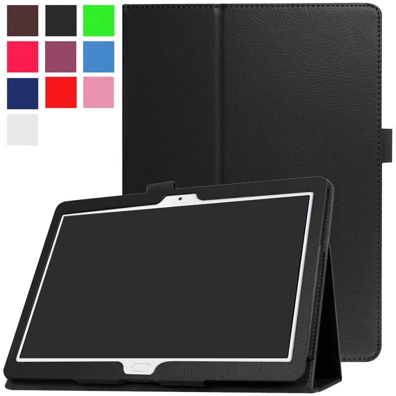 Kılıf Huawei MediaPad M3 Lite 10.1 BAH-W09 BAH-AL00 Ultra Slim Flip standı PU deri kapak için Huawei M3 Lite 10 Tablet Funda