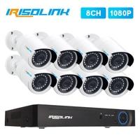 Irisolink 8CH CCTV camera System 8*1080P IR IP66 security surveillance cameras H.265 5in1 DVR outdoor Video Surveillance System