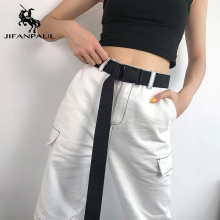 JIFANPAUL женский Мягкий тканевый модный ремень армейский тактический для тренировок на открытом воздухе, путешествий регулируемый отдыха лучший популярный