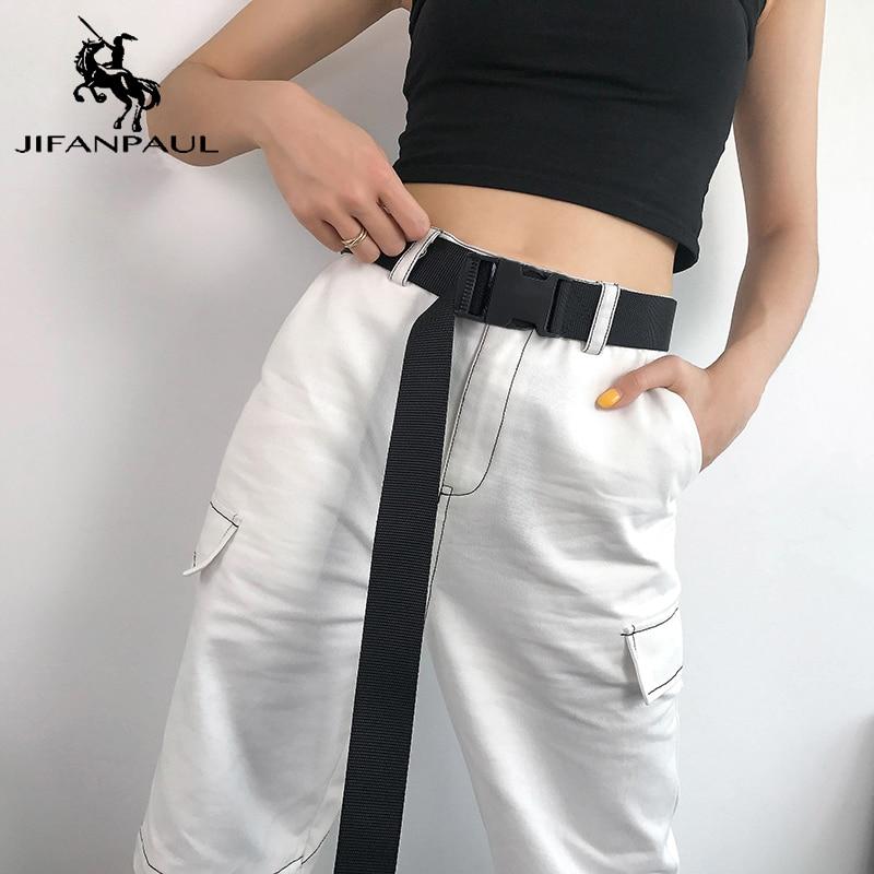 JIFANPAUL Women's New Soft Fabric Fashion Belt Army Tactical Belt Outdoor Training Travel Adjustable Leisure Best Hot Slae Strap