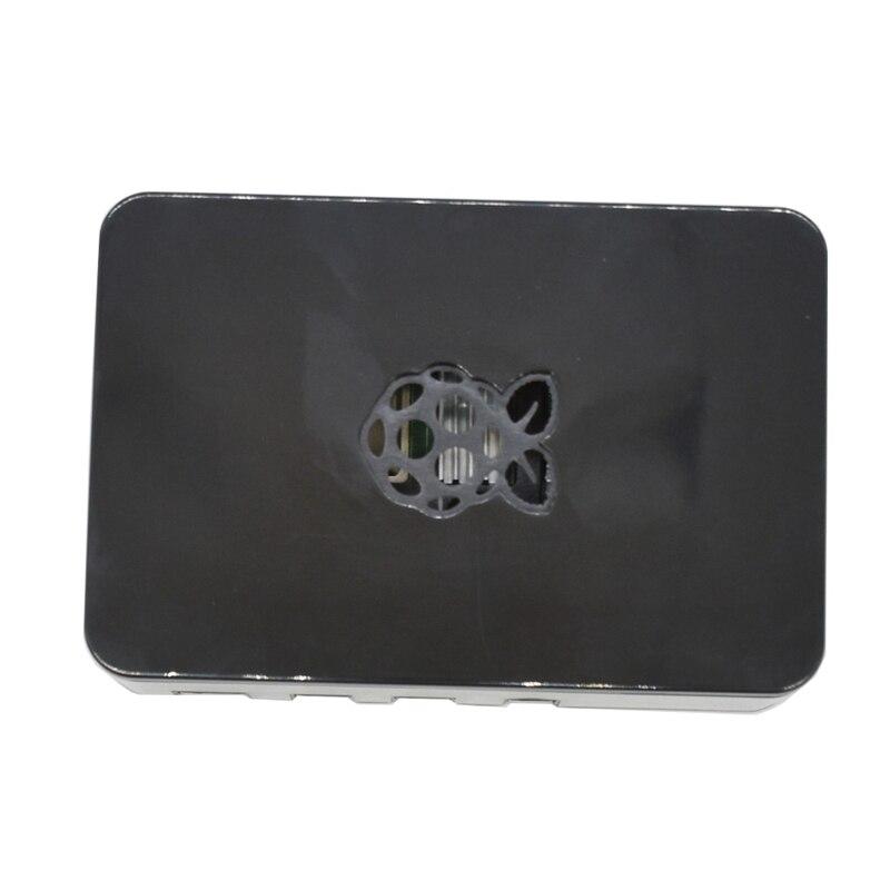 For Raspberry Pi ABS Case Enclosure Box V4 Updated For Raspberry Pi 4B(Black)