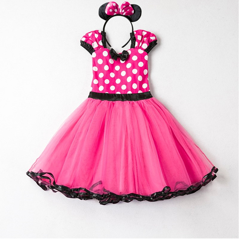 Girls Dress For Baby Kids Cosplay Party Dress Up 1-5 Years Toddler Children Polka Dots Birthday Princess Costume 3