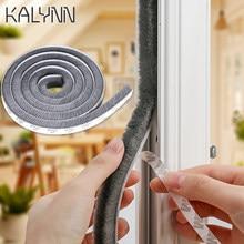 10m escova adesiva tempo descascando porta varredura escova deslizante faixa porta janela guarda-roupa selo à prova de poeira à prova de intempéries à prova de som