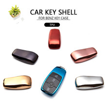 Fashion Car Key Case Cover For Mercedes Benz 2017 E Class W213 2018 S class Protect Key Shell Bag Holder Pendant Car Styling(China)