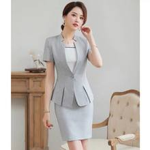 Suit for women summer thin 2020 new fashion temperament short sleeve business suit formal work clothes(China)