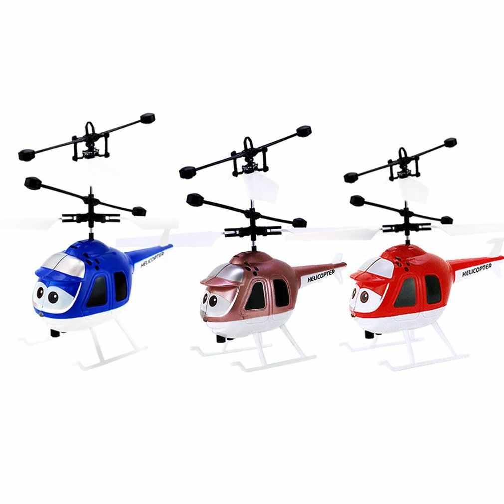 تحلق RC هليكوبتر الطائرات dron الأشعة تحت الحمراء التعريفي الطائرات مصباح ليد جهاز التحكم عن بعد في الطائرة بلا طيار dron لعب الاطفال البسيطة RC الطائرة بدون طيار الهدايا