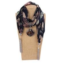 лучшая цена Scarf necklaces with pendants pendant scarf women Joker chiffon pendant scarf decorated tassel ethnic costumes