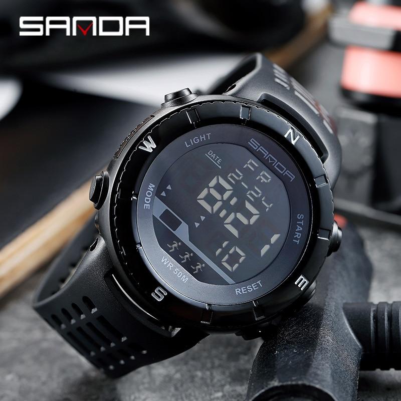 2020 New Fashion SANDA Top Brand Luxury Men's Watch Military Sports Watches Waterproof S Shock Digital Watch Relogio Masculino