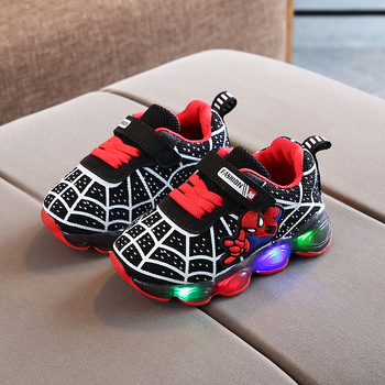 Children's shoelaces LED extra free light air cushion damping children's luminous sports shoes boys and girls LED light shoes