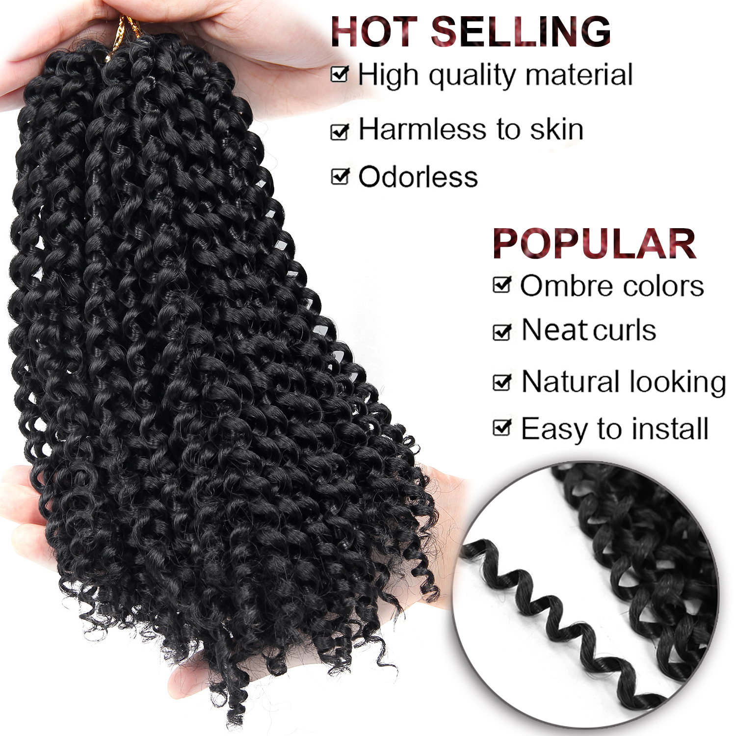 YxCheris Synthetic Crochet Hair jerry curl bundles weave Braiding hair with Ombre Crochet Braids Hair Extension bulk hair