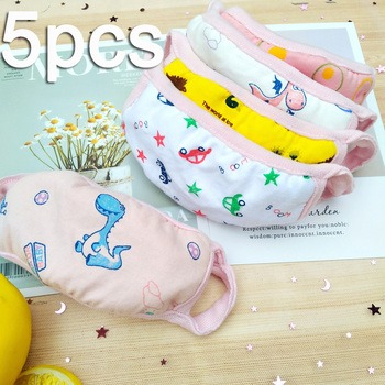 3/5pcs face mask for kids Reusable facemask Anti-Dust Mouth Respirator boys girls washable face mask baby face protection masque