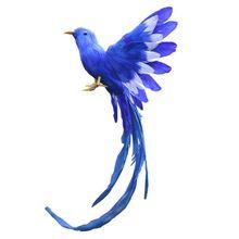 Мода-искусственные птицы перья пластиковая фигурка Пейзаж орнамент садовый Декор Рождество DIY Хэллоуин, 28*5*3 см