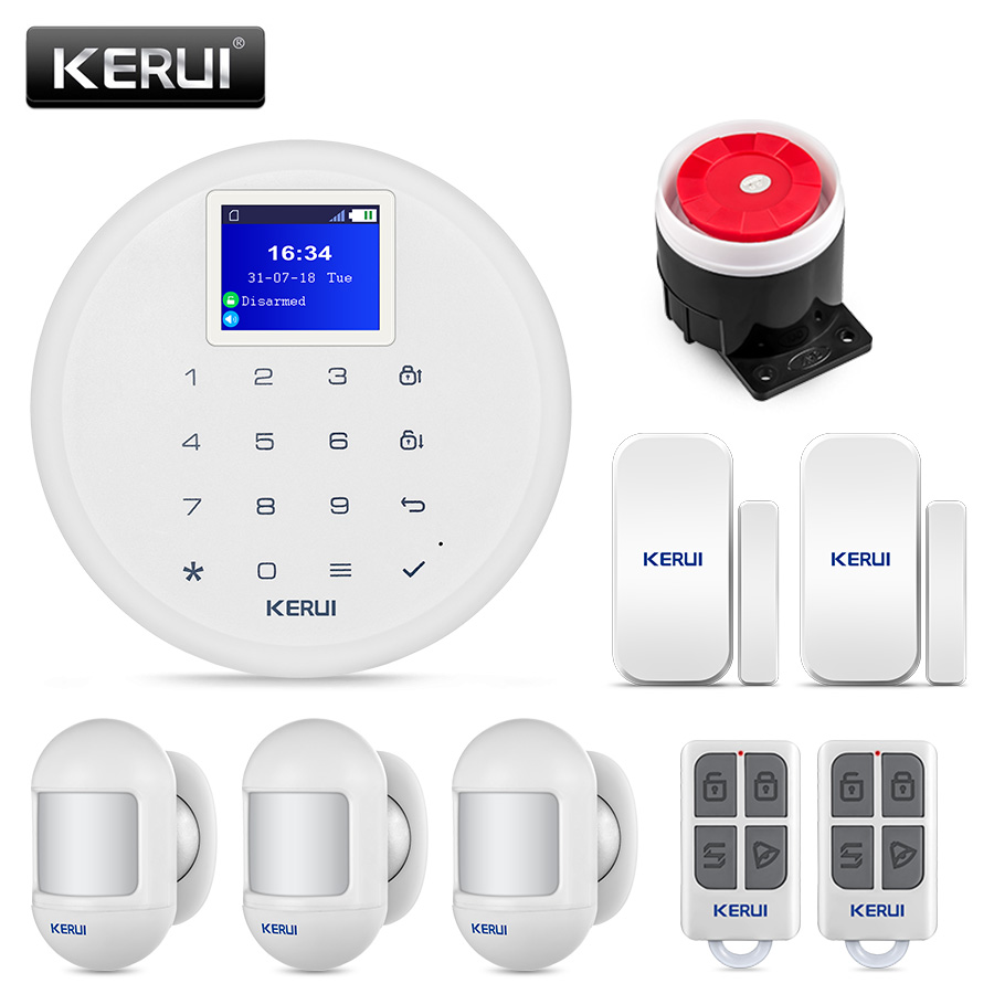 KERUI G17  GSM  Home Alarm System Wireless Burglar Security Sensor Kit With Motion Detector Android IOS Phone APP Remote Control