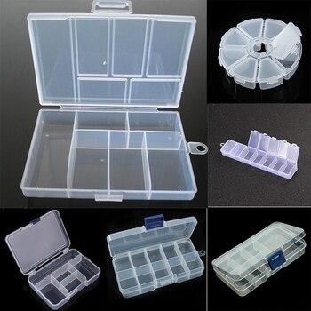 Пластиковые шкатулки для ювелирных изделий, пластиковый ящик для инструментов, регулируемый Органайзер для рукоделия, для хранения бусин, ...