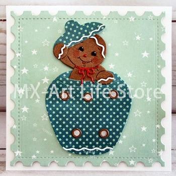 2020 güzel Gingerbread çocuk kız kesme ölür noel zencefilli kurabiye adam bebek bebek için Stencil DIY Scrapbooking Craft kartları