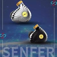 Senfer MT300 TDK EST Knowles Dyanmic EST+BA+DD Hybrid Hifi Music Monitor DJ Studio CNC Metal MMCX Audiophile Earphones Earbuds