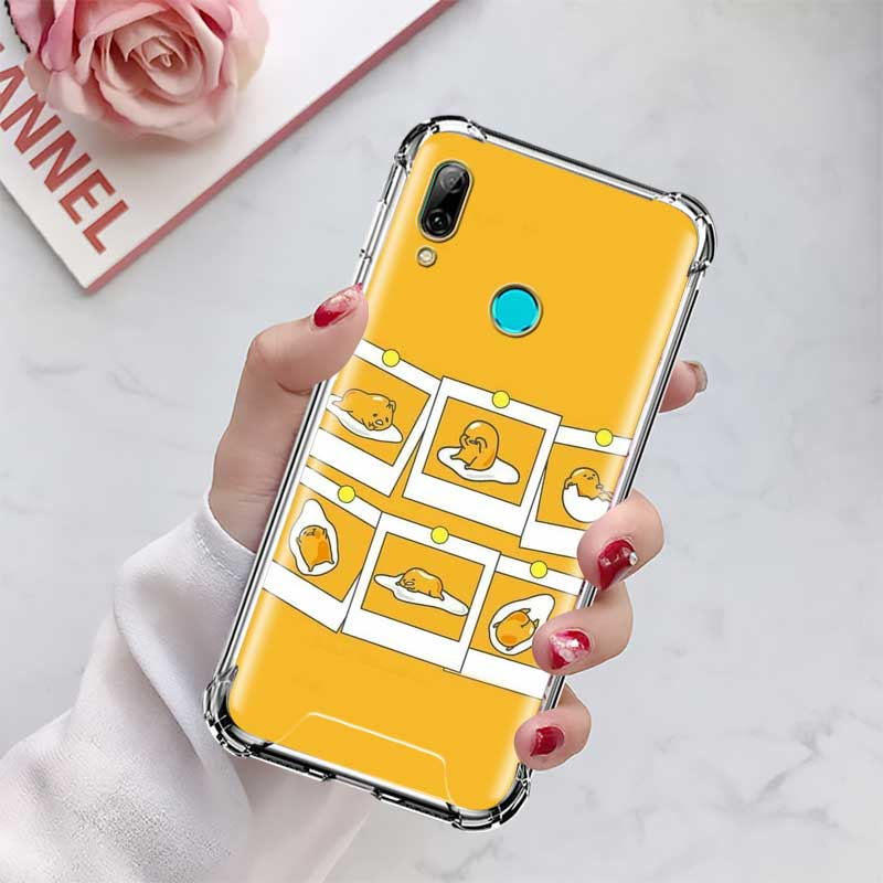 Cover For Huawei P20 P30 P40 Lite E P Smart 2020 Mate 10 20 Pro Fall Proof Airbag Phone Case Capa Gudetama Cute Egg