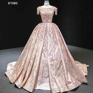Image 1 - J67080 Jancember Quinceanera שמלת קריסטל טאסל שווי שרוול תחרה עד בחזרה נצנצים נסיכת שמלות נשף 2020 vestidos dulces 16
