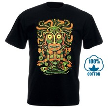 Idol Mens T Shirt Glow Uv Blacklight Neon Psychedelic Art Goa Festival Trance 010369(China)