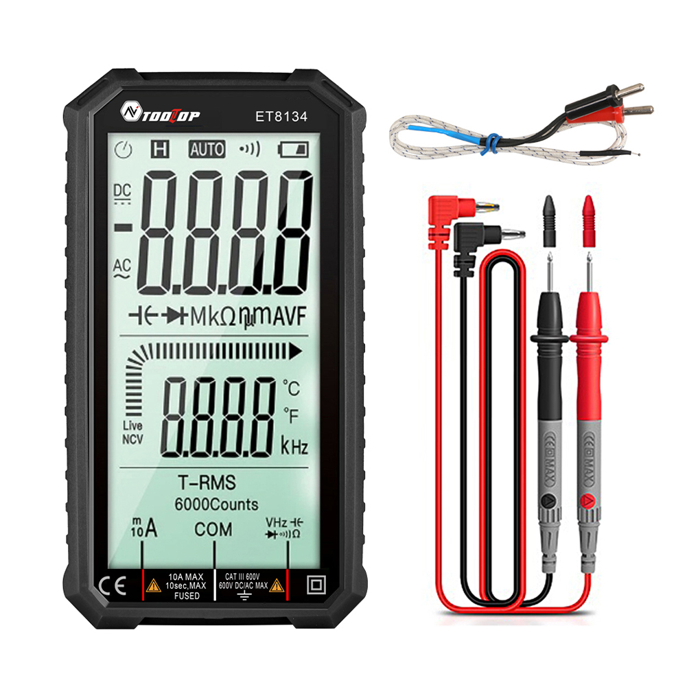 NEW Generation 6000V 10A 4.7 Inch Digital Multimeter Ture RMS AC DC NCV Smart Multimetro Tester Ohm Capacitance Hz Voltage Meter