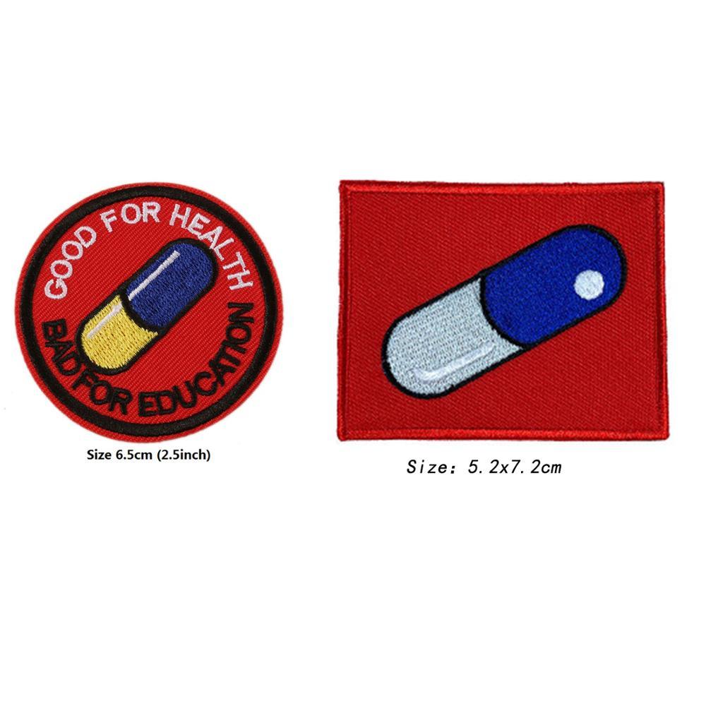 Akira Kaneda Good For Health Bad For Education Iron Sew On Patch Akira