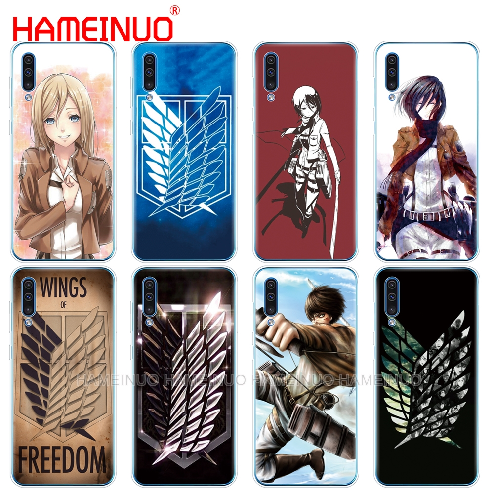 silicon phone cover case for Samsung Galaxy S10 E PLUS A10 A20 A30 A40 A50 A70 A10E A20E M20 cover Attack On Titan anime image