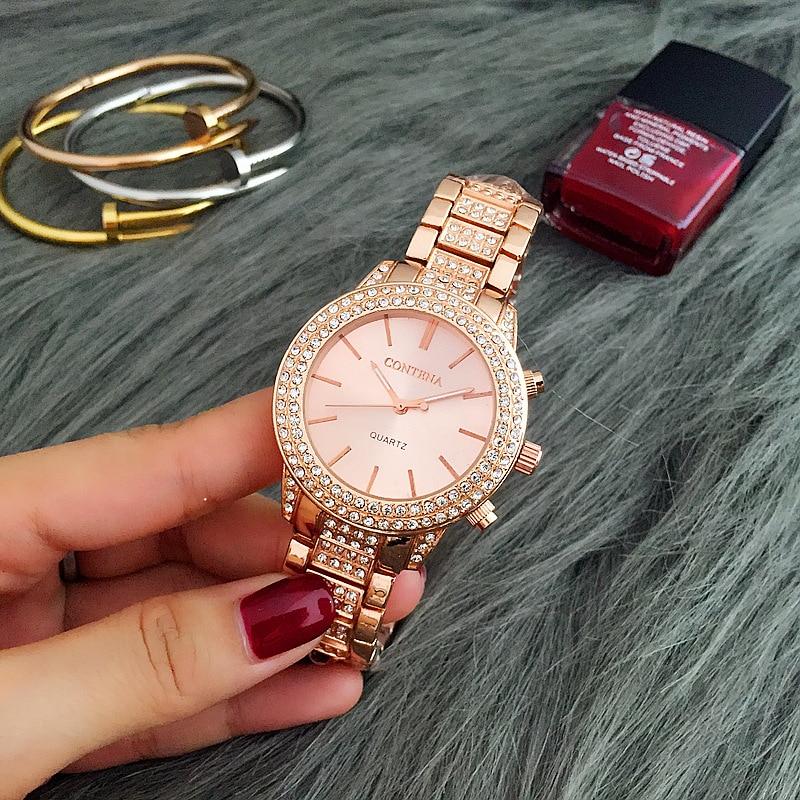 New Women Watches Classic Rhinestone Luxury Ladies Watches Womens Exquisite Casual Relogio Feminino Reloj Mujer Metal Wristwatch