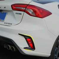 2pcs Carbon Fiber ABS Rear Foglight Lamp Frame Cover Trim Decoration Car Styling For Ford Focus 4 MK4 2019 Exterior Accessories