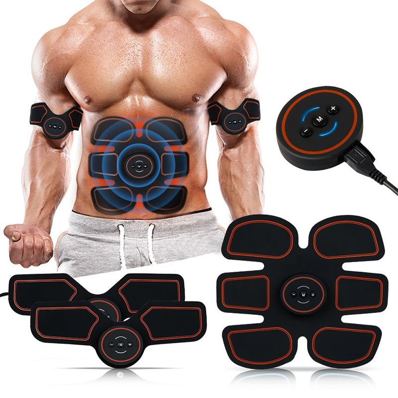 ABS Abdominal Stimulator Toner EMS Smart Electro Stimulation Muscle Legs Arm Trainer Massager Fitness Machine Home Gym Equipment