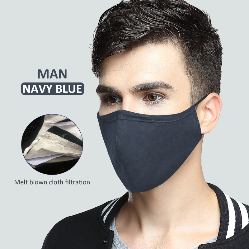 100% Cotton Outdoor Riding Anti-Dust Cycling Masks Headband Dustproof Reusable Washable Earloop Mouth Mask Running Mask Unisex