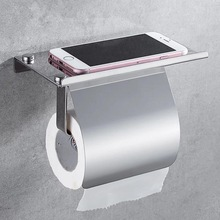 Stainless Steel Wall Mount Bathroom Toilet Paper Holder Roll Tissue Holder Rack Paper Holder with a Cover Bathroom Supplies free shipping wall toilet paper holder chrome stainless steel roll paper tissue rack with cover