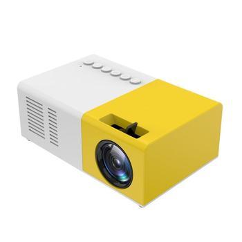 J9 mini projetor portátil suporte hdmi-compatível av usb hd 1080p vídeo media player led mini projetor de cinema em casa computador portátil