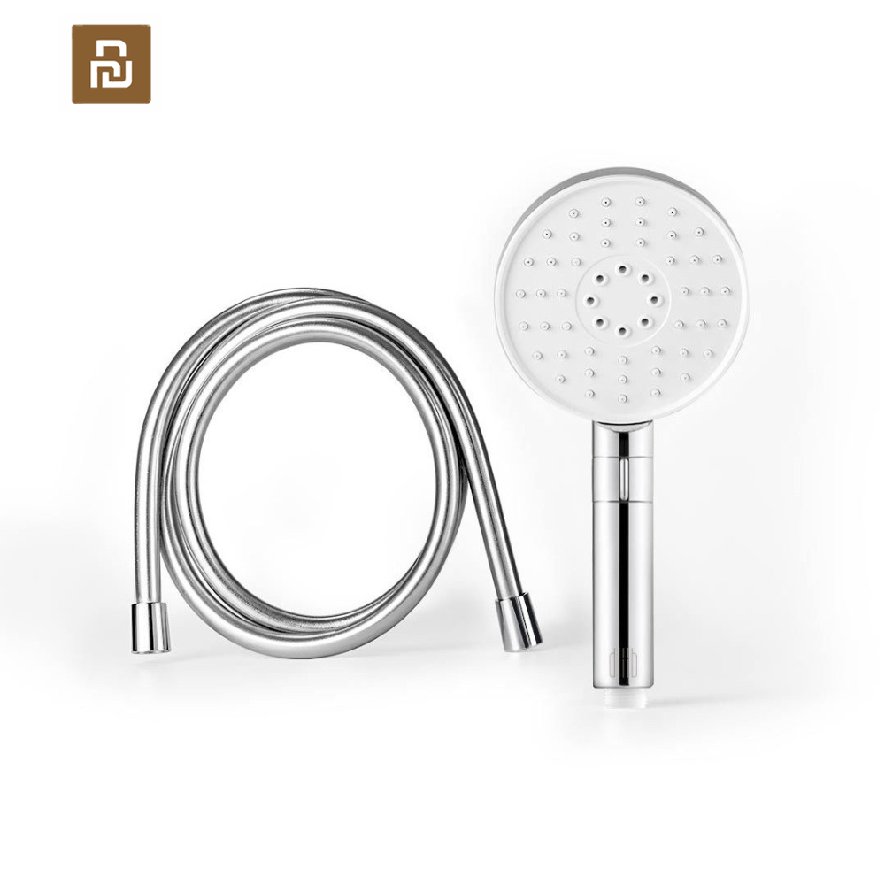 Youpin dabai Diiib 3 Modes Handheld Shower Head Set 360 Degree 120mm 53 Water Hole with PVC Matel Powerful Massage Shower