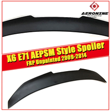 X6 E71 Tail Rear Trunk Spoiler Wing FRP Unpainted PSM style Fits For BMW X6-Series E71  Wings Lip Spoiler Car Styling 2009-2014 e71 e72 carbon fiber spoiler rear trunk lip wings for bmw x6 2008 2014