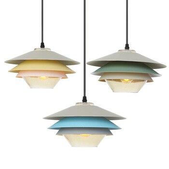 Nordic LED E27 Pendant Light  aluminum  Glass Shade Pendant Lamp illumination light fixture living room bedroom decoration