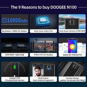 Image 3 - Doogee N100 Del Telefono Mobile 10000mah Batteria da 5.9 pollici FHD + Display 21MP + 8MP Della Macchina Fotografica 4GB di RAM 64GB di ROM Octa Core MT6763 4G Smartphone
