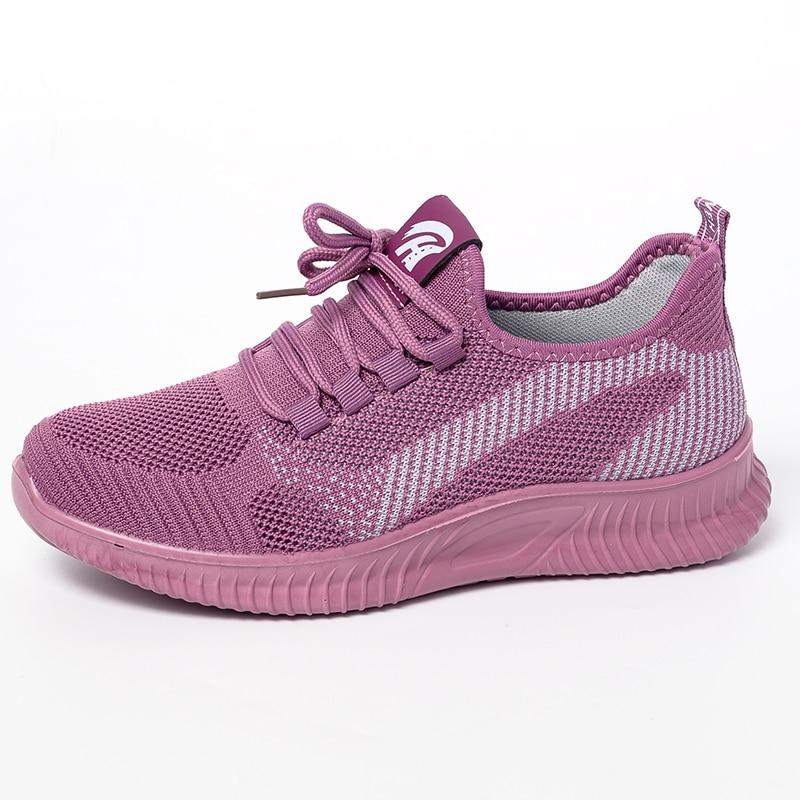 Fashion Women Sneakers Lace Up Casual Shoes Woman Flats Platform Trainers Women Shoes Casual Tenis Feminino Zapatos De Mujer
