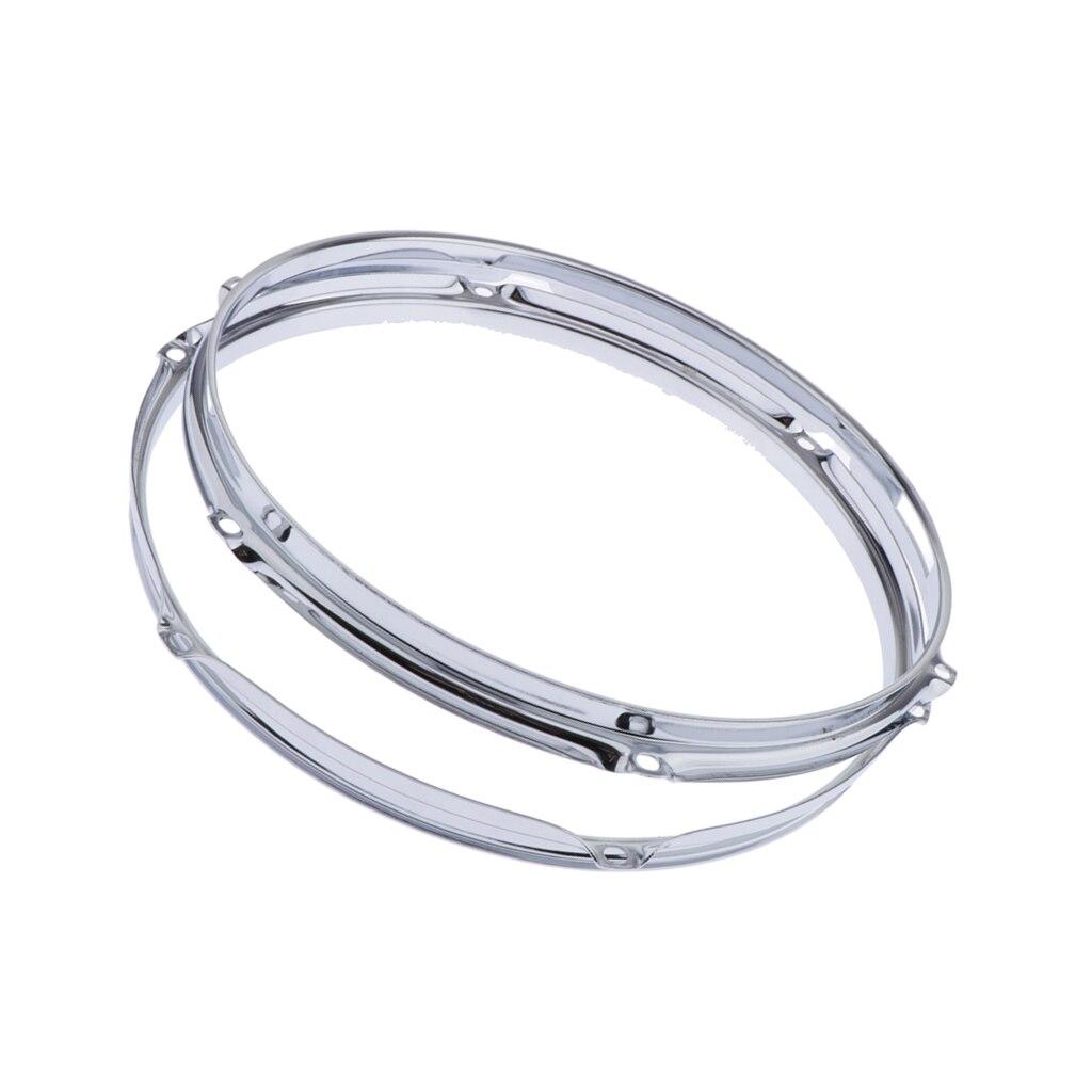 Useful 13 6 Hole Die Cast Snare Drum Hoops Build Restoration Set Chrome