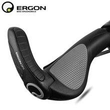 산악 자전거 핸들 바 그립 ERGON GP1 GP3 GP5 자전거 바 엔드 마운트 클램프 핸들 그립 인체 공학 고무로드 사이클링 잠금 그립