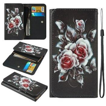 Перейти на Алиэкспресс и купить Для OPPO R17 RX17 Neo Realme 1 2 C1 U1 Oukitel C10 C11 Pro C12 Plus Pro окрашенный стильный кошелек с отделением для карт чехол для телефона